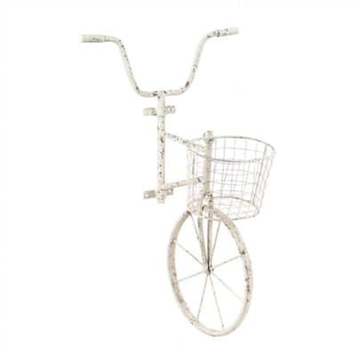 White Metal Bicycle Wall Art