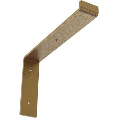 2 in. x 7 3/4 in. x 12 in. Hammered Gold Steel Truss Shelf Bracket