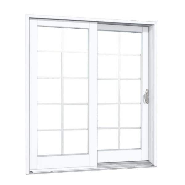 Right Hand Composite Sliding Patio Door, 10 Patio Door