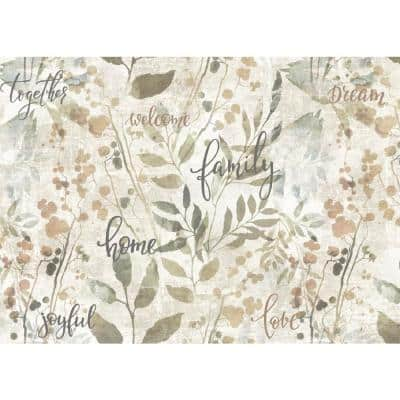 Family Taupe Placemat Set (4-Pack)