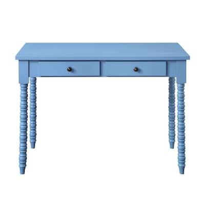 Altmar 42 in. Rectangular Blue Finish Writing Desk