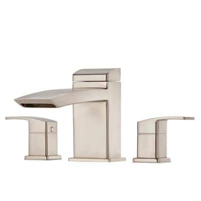 Kenzo 2-Handle Deck Mount Roman Tub Faucet Trim Kit in Brushed Nickel (Valve Not Included)