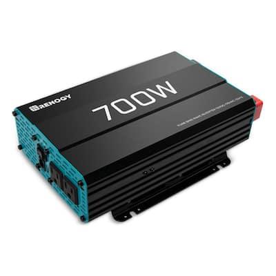 700-Watt Solar 12-Volt Pure Sine Wave Off Grid Battery Inverter with USB Port