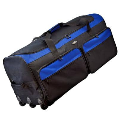 36 in. Tri-Fold Rolling Duffel Bag with 3-Blade Wheels and Folding Base
