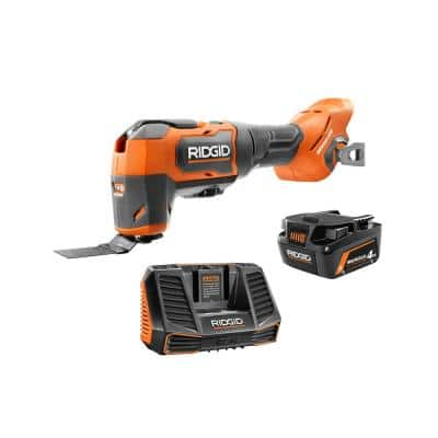 18V Brushless Cordless Oscillating Multi-Tool Kit with 4.0 Ah MAX Output Battery and Charger