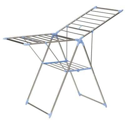 61 in x 39 in Gullwing Folding Clothes Drying Rack