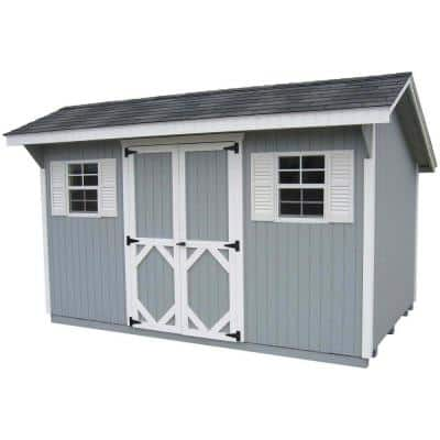 Classic Saltbox 12 ft. x 14 ft. Wood Storage Building DIY Kit with Floor