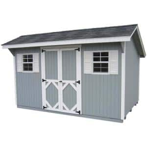 Classic Saltbox 8 ft. x 10 ft. Wood Storage Building DIY Kit with Floor