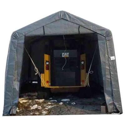 12 ft. W x 28 ft. D x 8 ft. H Steel Frame Polyethylene Instant Garage/Shed without Floor