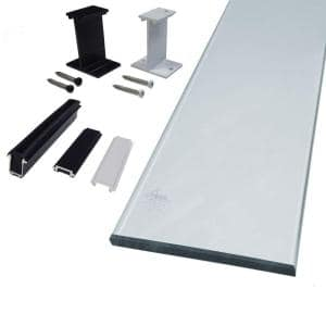 6 in. Clear Glass Panel Rail Kit