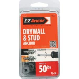 Stud Solver #7 x 1-1/4 in. Zinc Plated Alloy Phillips Flat-Head Anchors with Screws (20-Pack)