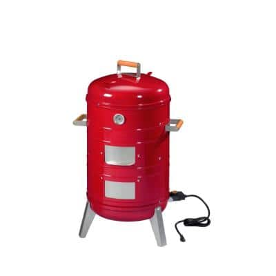 4-in-1 Electric or Charcoal Smoker and Grill