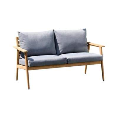 Duncan Teak Outdoor Sofa with Grey Cushions