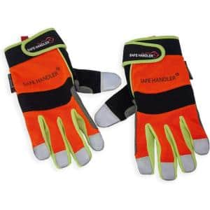 L/XL Reflect Pro Gloves, High Visibility Hook and Loop Wrist Strap (2-Pair)