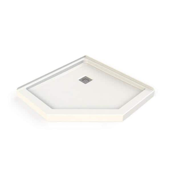 Maax Hana Neo Angle 38 In X 38 In Single Threshold Shower Base In White 106380 000 001 000 The Home Depot