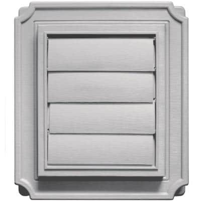 7.875 in. x 7.875 in. #016 Gray Scalloped Exhaust Siding Vent