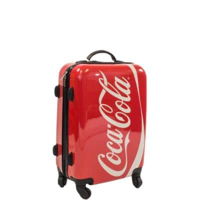 Coca Cola 21 in. Spinner Rolling Luggage Suitcase Upright Poly-Carbonate Plastic Hard Cases
