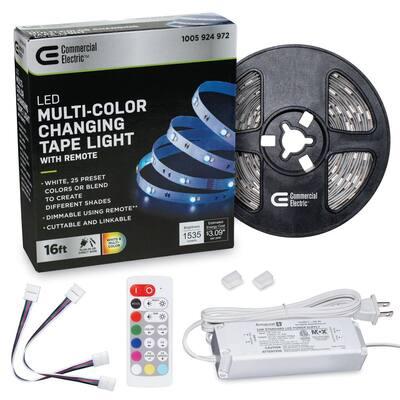 16 ft. LED White and RGB Tape Light Kit- Under Cabinet Light