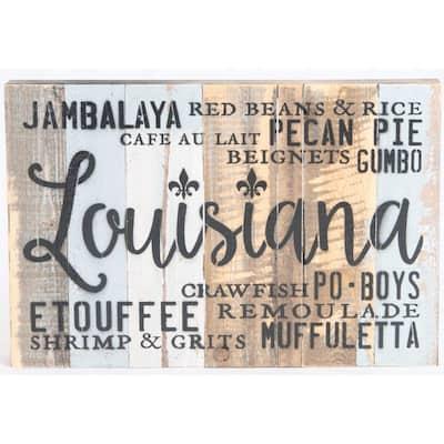 """Louisiana Foodie"" Reclaimed Wood Decorative Sign"