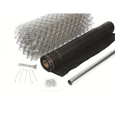3-1/2 ft. x 300 ft. Black Super Silt Fence Kit
