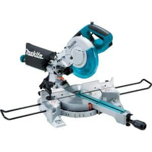 10.5 Amp 8-1/2 in. Corded Single Bevel Sliding Compound Miter Saw w/ Electric Brake, Soft Start, LED Light and 48T Blade