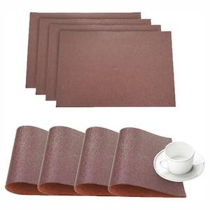 Pebble Bronze Faux Leather Placemat (Set of 4)