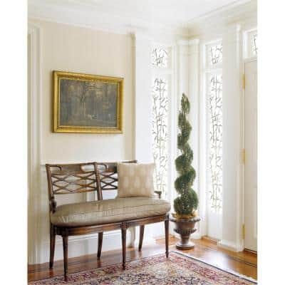 11.8 in. x 78.74 in. Bamboo Sidelight Privacy Window Film