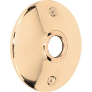 Door Knob Rosettes, 3 in. Outside Diameter, Polished Solid Brass (2-pack)