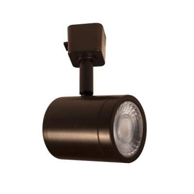 Charge Dark Bronze 3000K Integrated LED Halo Style LED Linear Track Line Voltage Round Back Head (6-Pack)