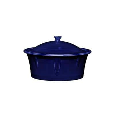 90 oz. Cobalt Blue Large Covered Casserole with Lid