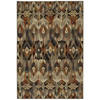 Atzi Brown 8 ft. x 11 ft. Tribal Area Rug