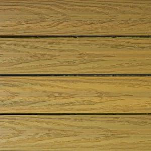 UltraShield Naturale 1 ft. x 1 ft. Quick Deck Outdoor Composite Deck Tile Sample in English Oak