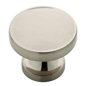 Phoebe 1-1/3 in. (34mm) Satin Nickel Round Cabinet Knob (24-Pack)