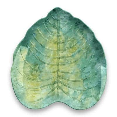 Tropical Leaf Green Bamboo Melamine, 7 in. Appetizer Plate (6-Pack)