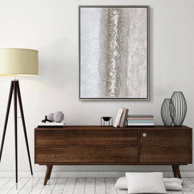 Sandpath Textured Metallic Hand Painted by Martin Edwards Framed Abstract Canvas Wall Art