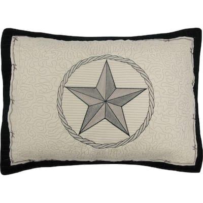 Texas Pride Beige Cotton Standard Sham