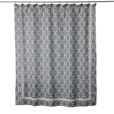 Lithgow 72 in. Dove Gray Shower Curtain