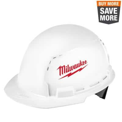 BOLT White Type 1 Class C Front Brim Vented Hard Hat