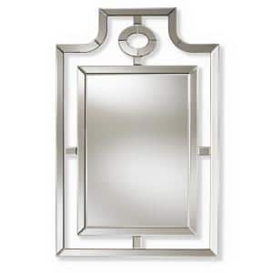 Large Rectangle Silver Contemporary Mirror (46 in. H x 30 in. W)