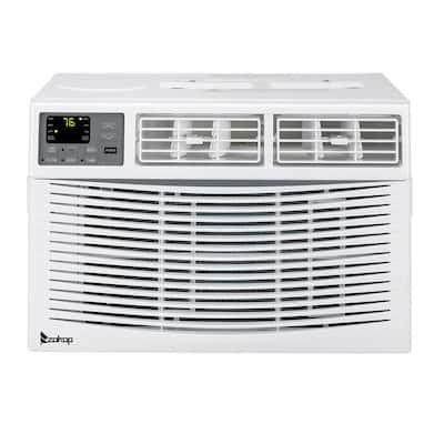 8000 BTU 110-Volt White Window Air Conditioner with Remote Control
