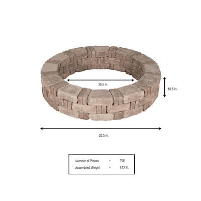RumbleStone 52.5 in. x 10.5 in. Tree Ring Kit in Cafe
