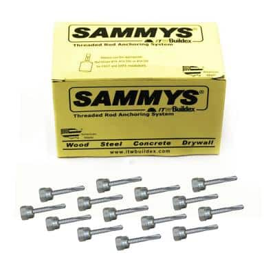 1/4-14 in. x 1 in. Vertical Rod Anchor Super Screw with Teks and 1/4 in. Threaded Rod Fitting for Steel (25-Pack)
