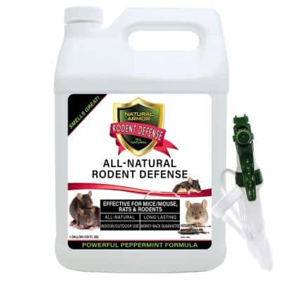 128 oz. All-Natural Peppermint Repellent for Mice/Mouse, Rats & Rodents for Indoor and Outdoor Use with Trigger Sprayer