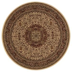 Persian Classics Isfahan Ivory 5 ft. Round Area Rug