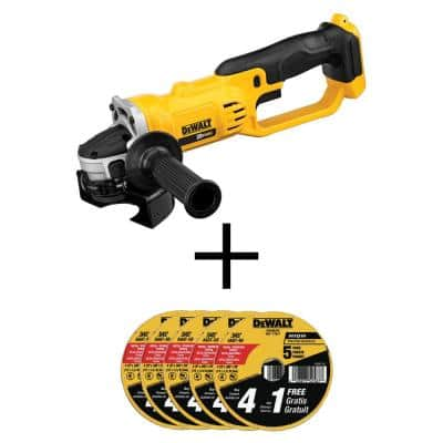 20-Volt MAX Cordless 4-1/2 in. to 5 in. Grinder with (25) Metal and Stainless Cutting Wheels