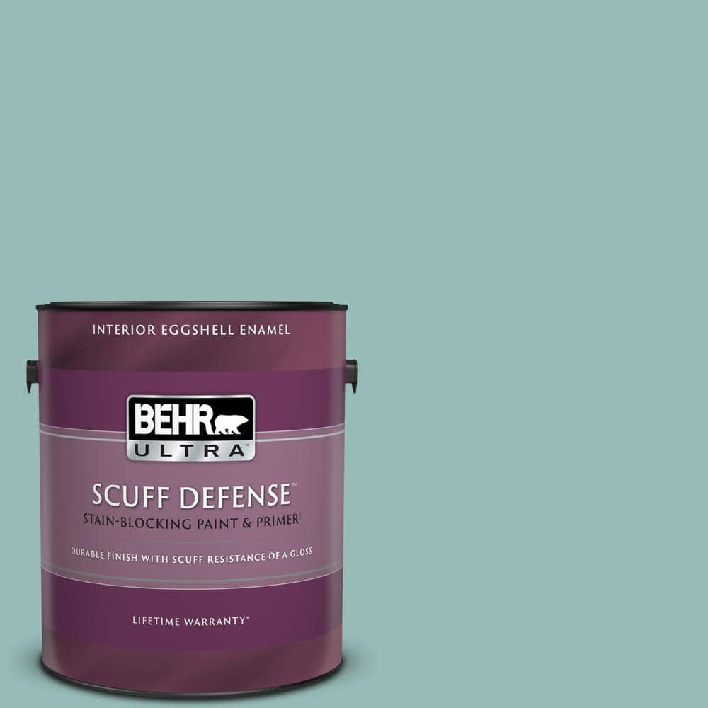 Behr Ultra 1 Gal Ppu12 06 Lap Pool Blue Extra Durable Eggshell Enamel Interior Paint Primer 275401 The Home Depot