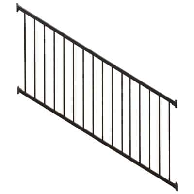 Stanford 36 in. H x 96 in. W Textured Black Aluminum Stair Railing Kit