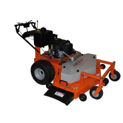 54 in. 22HP Subaru Electric Gas Commercial Duty Dual-Hydro Finish Cut Commercial Walk Behind Mower with Floating Deck