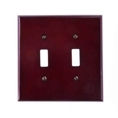 Mahogany 2-Gang Toggle Wall Plate (1-Pack)