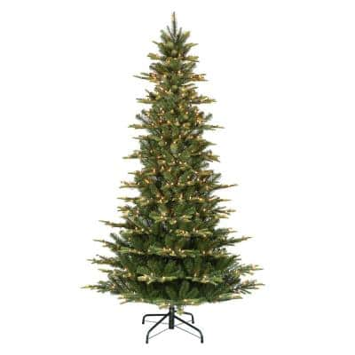 6.5 ft. Pre-Lit Slim Aspen Fir Artificial Christmas Tree with 350 UL-Listed Clear Lights